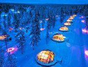 Glass Igloos at Hotel Kakslauttanen