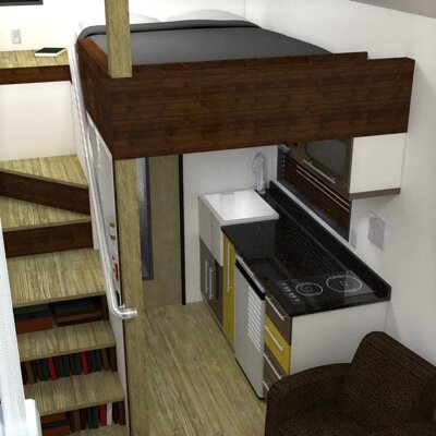 The McG Loft A Tiny House with a Staircase Humble Homes
