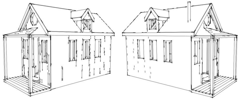 tiny house plan victorian style tiny house
