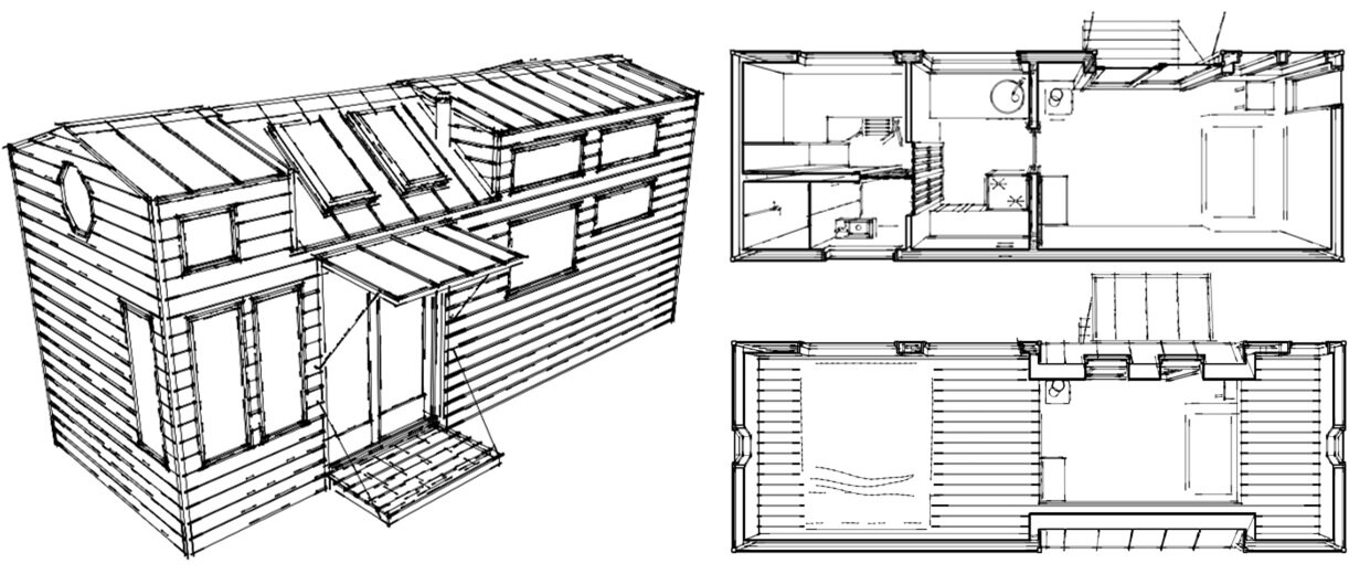 Tiny House On Wheels Plans tiny house plans home architectural plans 03 Unreleased Custom Tiny House Plans