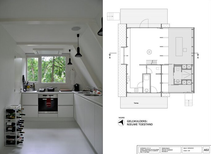 Modern extension to a small a frame home for A frame style house