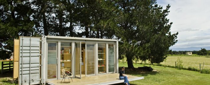Port A Bach Transforming Shipping Container Home