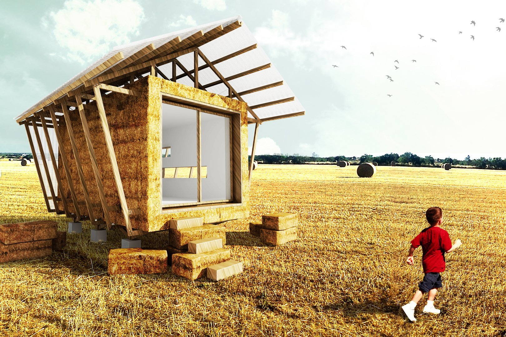 Building Small Straw Bale House