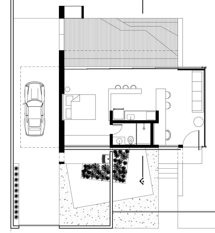 12.20 House by Alex Nogueira - Small House in Brazil - Floor Plan - Humble Homes