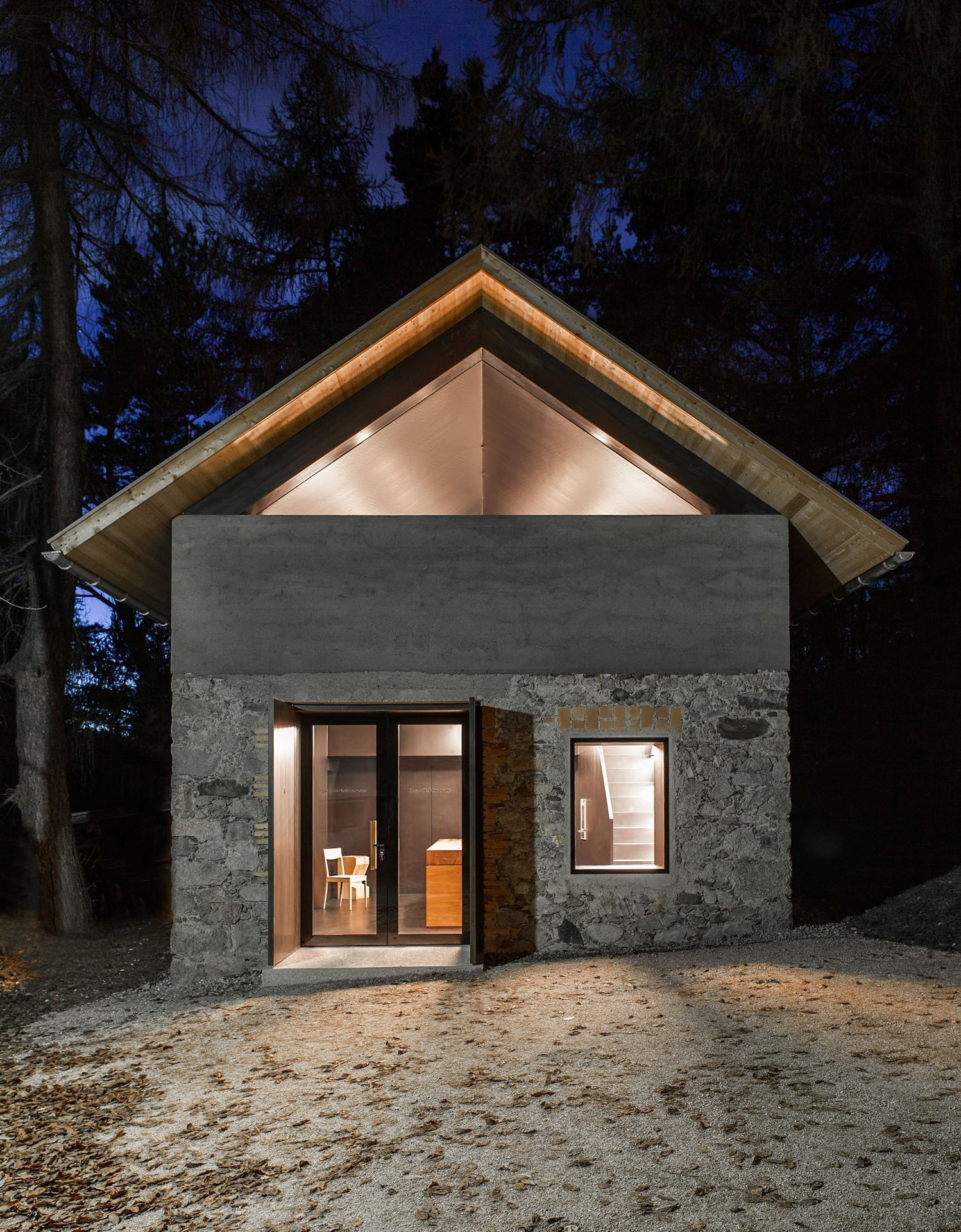 Atelier Kitchen Haidacher - Lukas Mayr Architekt - Atelierk Bei Nacht - Small House - Humble Homes