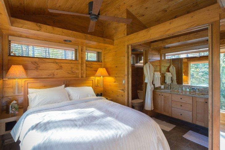 ESCAPE RV Canoe Bay - Rustic Eco Retreat - Small House - Bedroom - Humble Homes