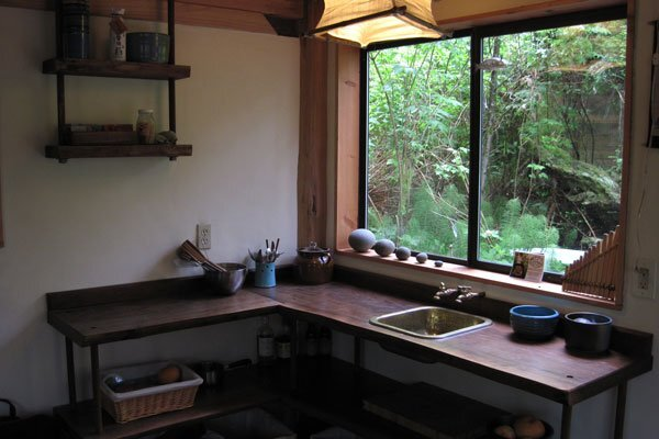 Japanese House by Brian Schulz- Simple Kitchen - Humble Homes