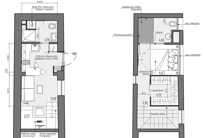 Small Apartment in Odessa Ukraine by Denis Svirid - Floor Plans - Humble Homes