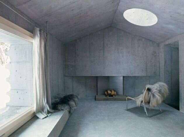 Swiss Alpine Cabin by Georg Nikisch and Selina Walder - Living Room - Humble Homes