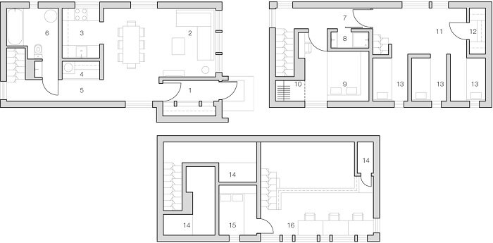 The Low Budget House by Le Atelier - Moscow Russia - Floor Plans - Humble Homes