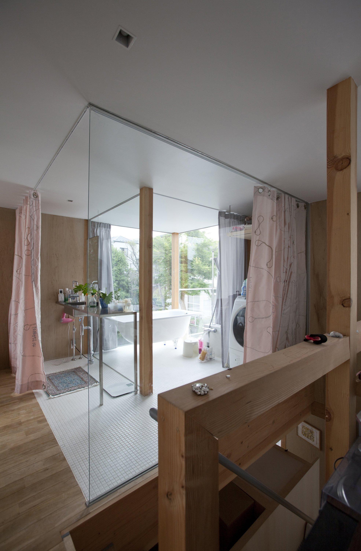 Double Circular Rings - Todoroki - Teppei Fujiwara Architects Labo - Small House Japan - Bathroom - Humble Homes