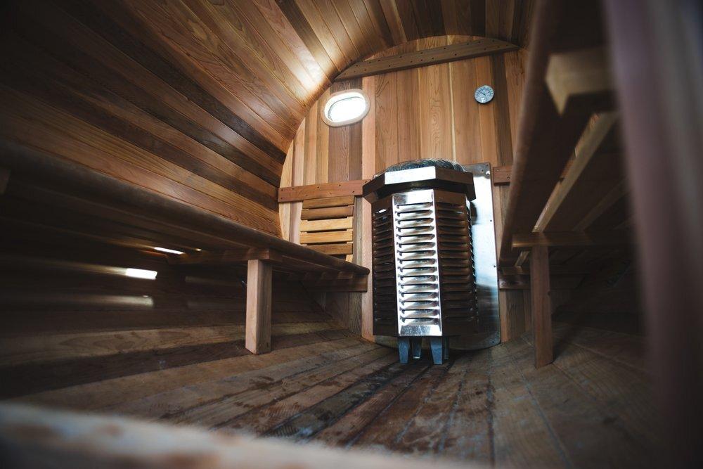 Portable Sauna - Surf Sauna - Portsmouth New Hampshire - Interior - Humble Homes