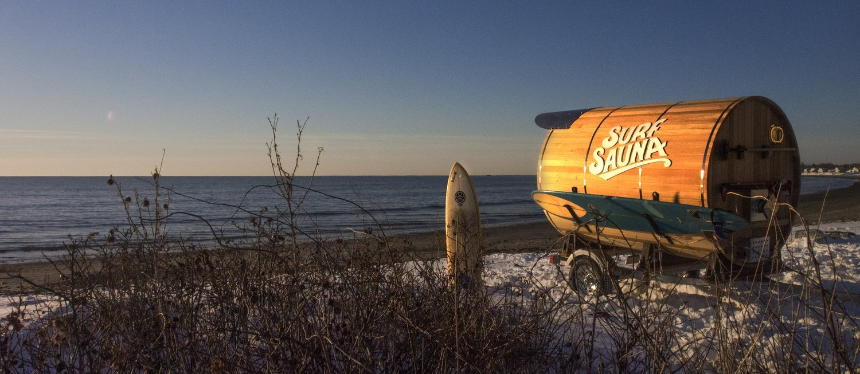 Portable Sauna - Surf Sauna - Portsmouth New Hampshire - Winter Beach - Humble Homes