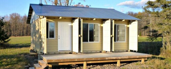 Contain House - Steves Tin Can Cabin - Exterior - Humble Homes