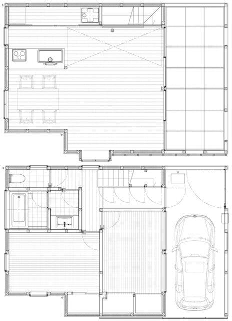 House in Chiba - Yuji Kimura Design - Small House - Japanese House - Floor Plan - Humble Homes