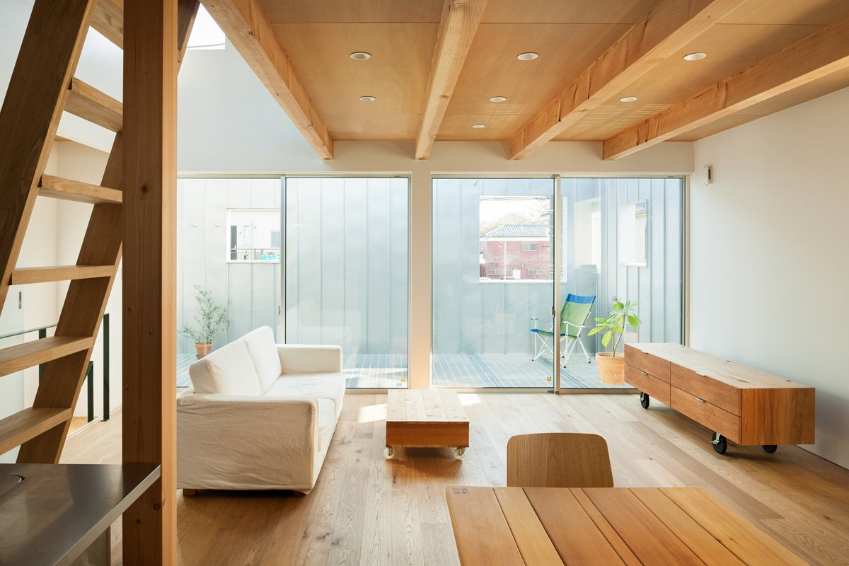 House in Chiba - Yuji Kimura Design - Small House - Japanese House - Living Room - Humble Homes