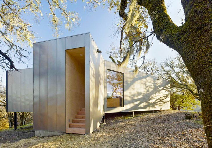 Moose Road Residence by Mork Ulnes Architects -  Ukiah Valley California - Affordable Housing - Entry - Humble Homes