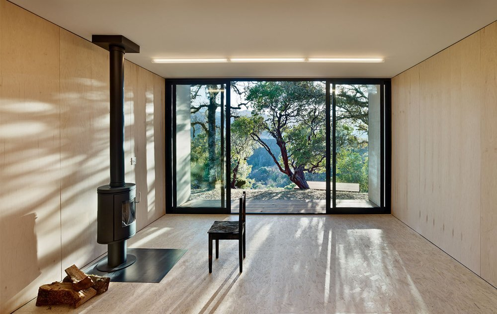 Moose Road Residence by Mork Ulnes Architects -  Ukiah Valley California - Affordable Housing - Living Room - Humble Homes