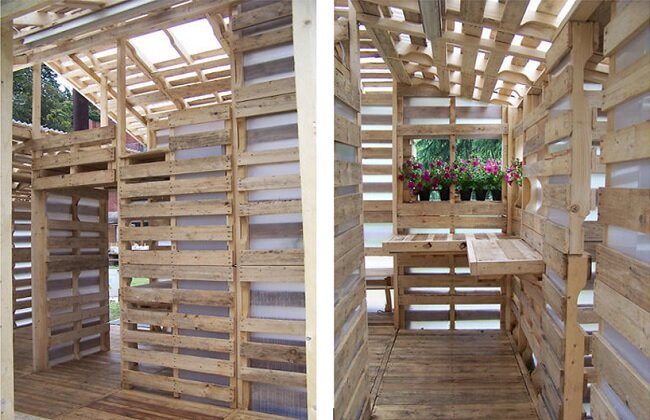 Pallet House by Gabriel-Neri - Above Zoom - Interior - Humble Homes