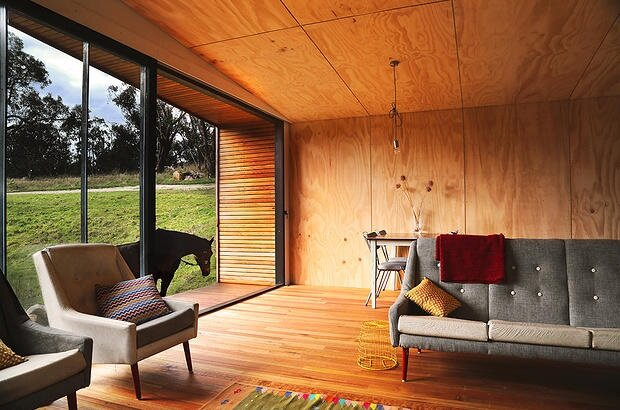 Pump House By Branch Studio Architects   Off Grid House   Living Room    Humble