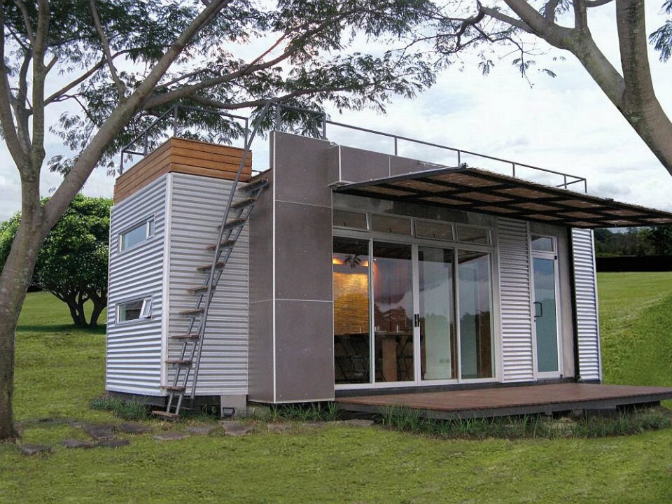 Casa Cubica - Container Home - Exterior - Tiny House - Humble Homes