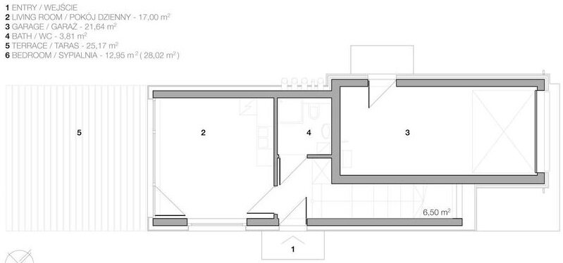Domo Dom House - Krakow - Poland - Arciteckt Lemanski - Small House - Floor Plan - Humble Homes