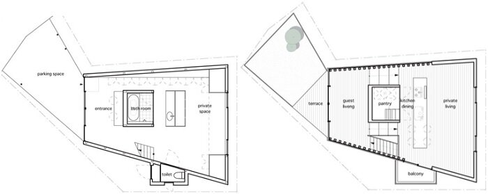 Makiko Tsukada Architects - Grass Cave House - Japan - Floor Plan - Humble Homes