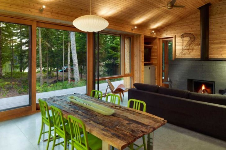 Stealth Cabin - Superkul - Ontario - Canada - Small House - Livingroom - Humble Homes