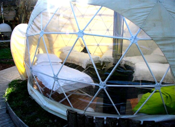 The Garden Dome - Geodesic Dome - Forest of Dean - London - Bedroom - Humble Homes