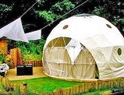 The Garden Dome - Geodesic Dome - Forest of Dean - London - Exterior - Humble Homes