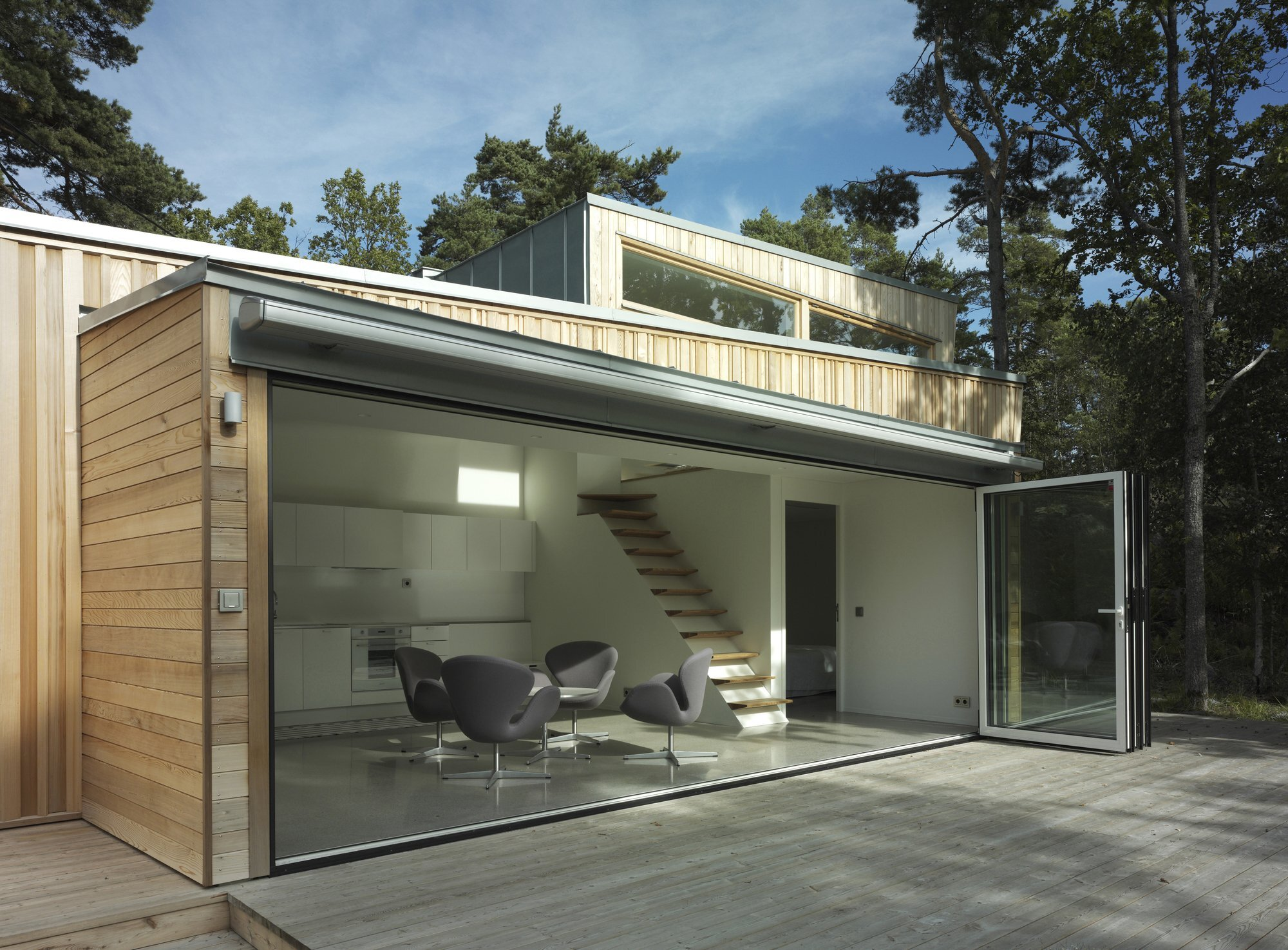 The Wood House - Schlyter + Gezelius Arkitektkontor - Small House - Sweden - Exterior Decking - Humble Homes