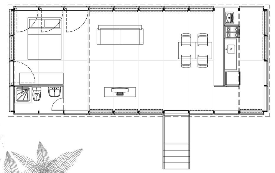 Casa na Mata - NITSCHE ARQUITETOS - Brazil - Small House - Floor Plan - Humble Homes