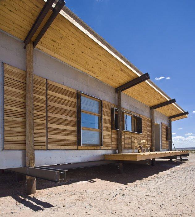 DesignBuildBLUFF Studio   Navajo Reservation   Suzie Whitehorse   Off Grid  House   Exterior Deck