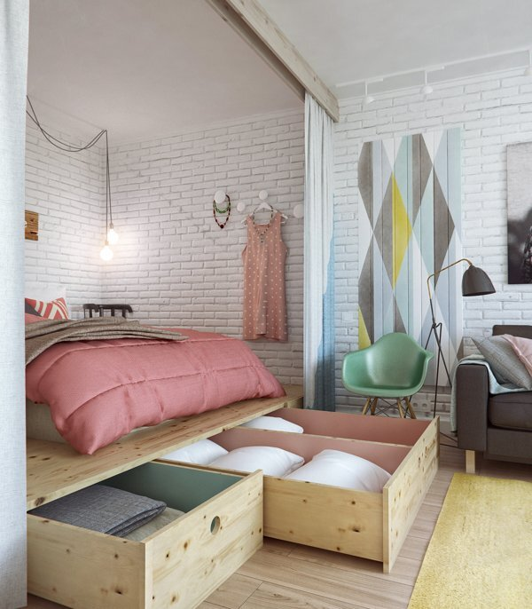 INT2architecture - Moscow - Russia - Small House - Bedroom - Humble Homes