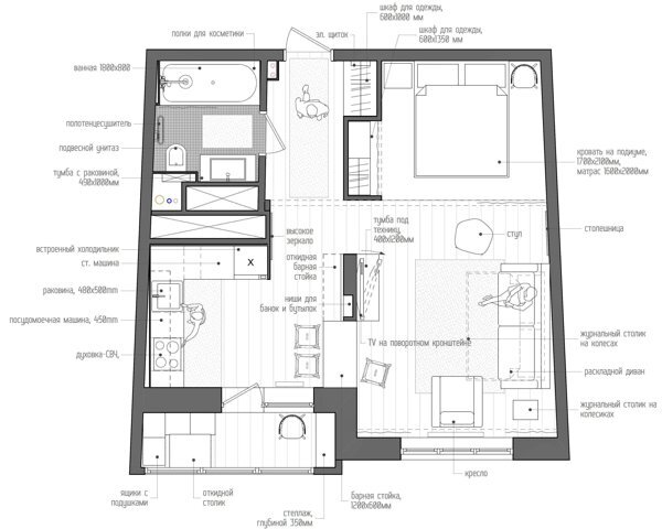 INT2architecture - Moscow - Russia - Small House - Floor Plan - Humble Homes