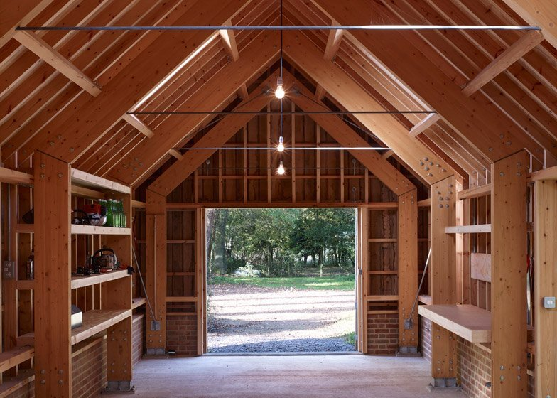 Long Sutton Studio - Cassion Castle Architects - Tom Lloyd - Entrance Timber Frame- Humble Homes