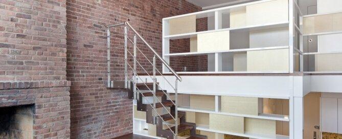 NYC Loft Studio - Tiny Apartment - Split Level - Renovation - Turett Collaborative Architects - Living Area - Humble Homes