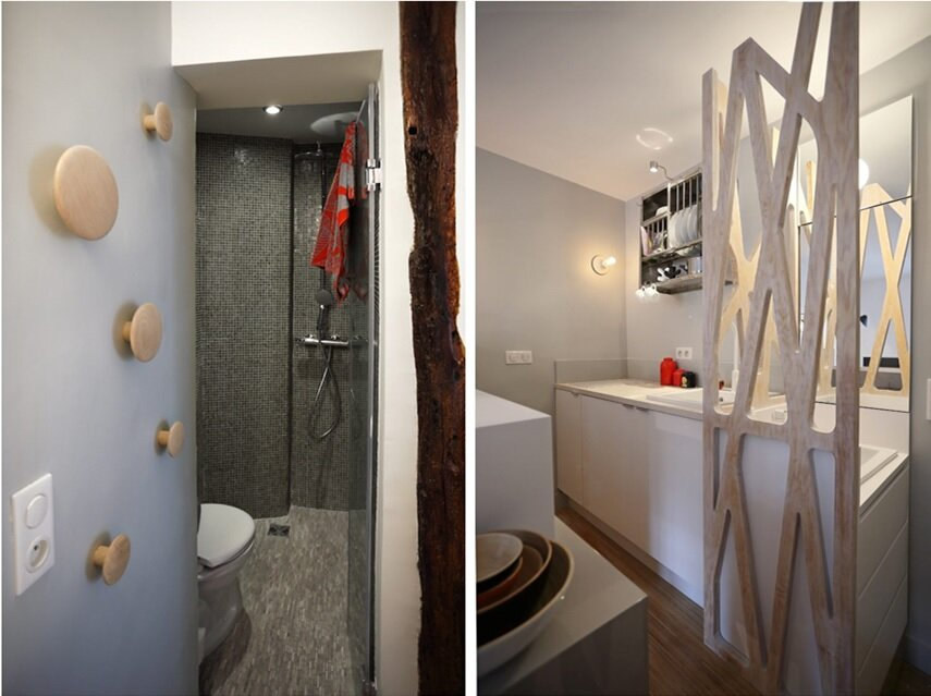 Parisian Tiny Apartment - Julie Nabucet Architecture - France - Bathroom - Humble Homes