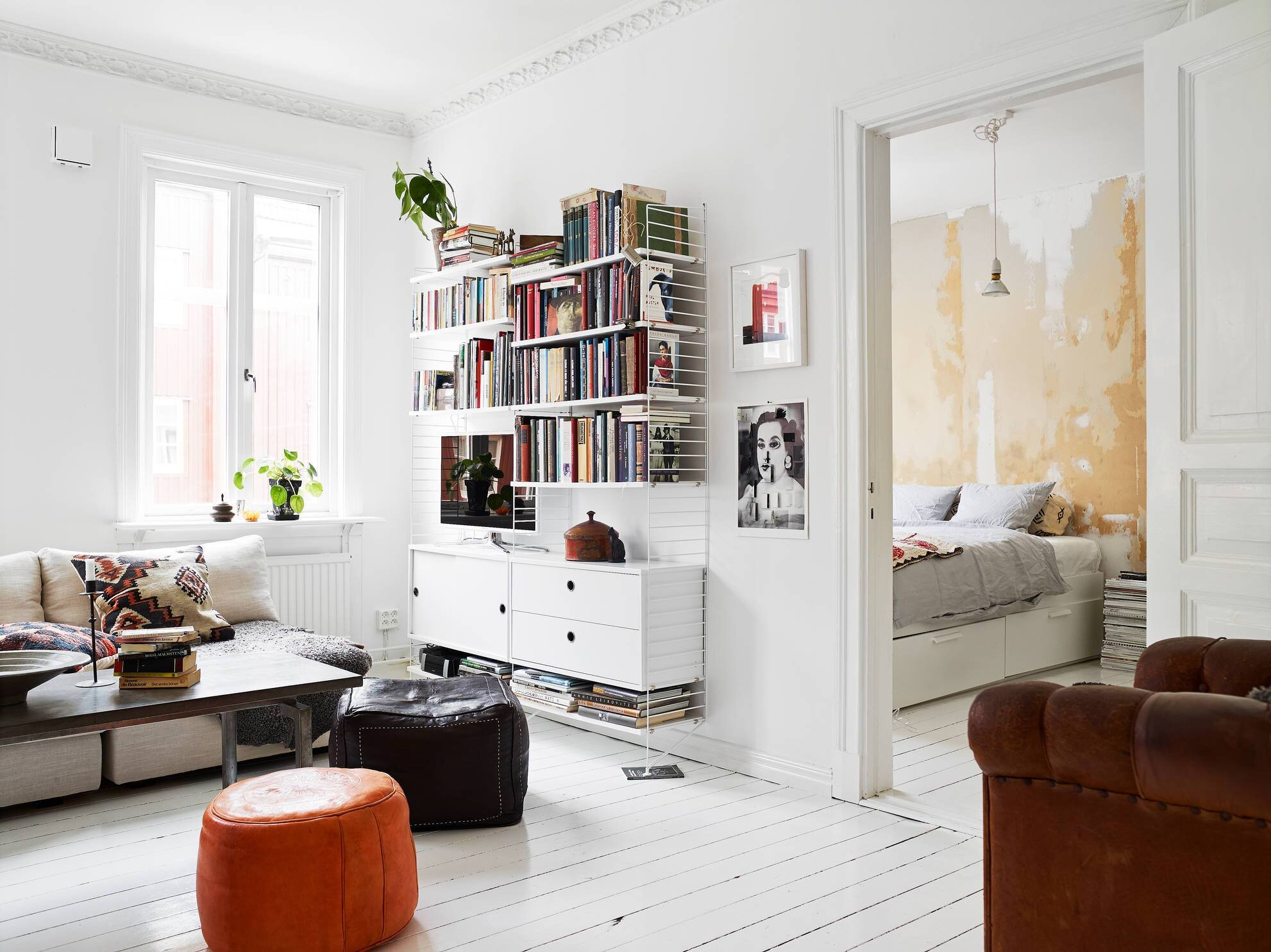 Small Apartment - Goteburg - Sweden - Stadhem - Living Room - Humble Homes