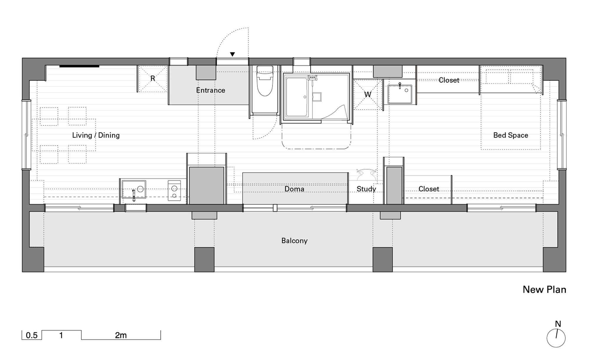 Wing Wall House - Camp Design Inc + Sumosaga Fudosan - Tokyo Japan - Floor Plan - Humble Homes