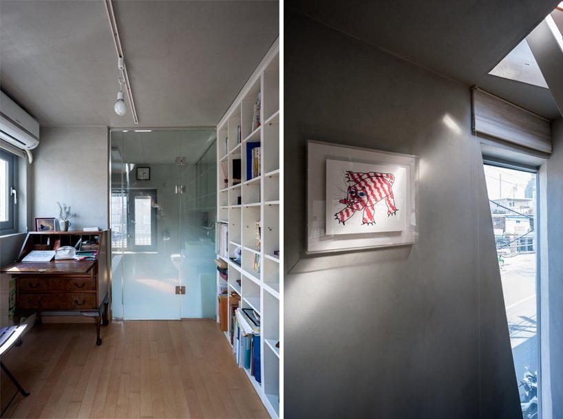 AnL Studio - Tiny House - Mondang House - Seoul - South Korea - Bathroom and Study - Humble Homes