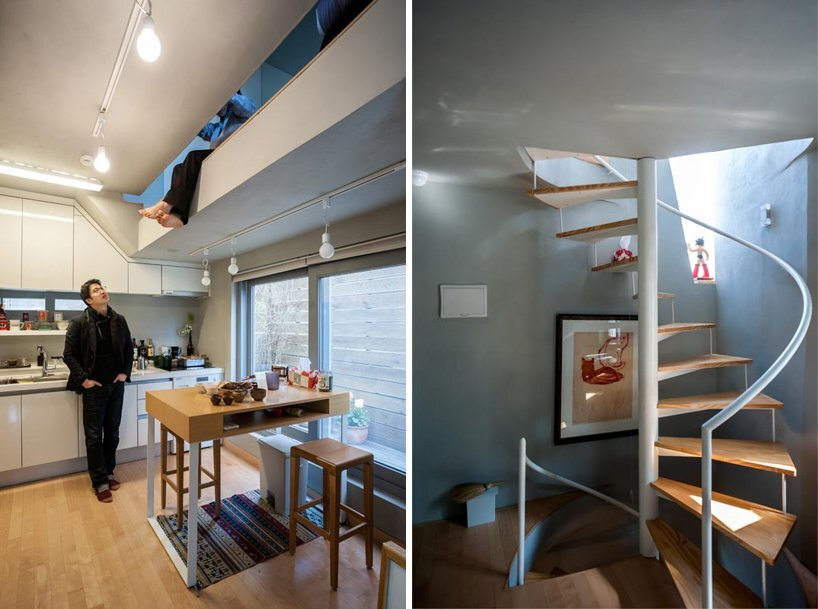 AnL Studio - Tiny House - Mondang House - Seoul - South Korea - Spiral Staircase - Humble Homes