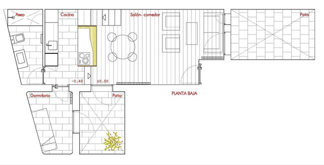 Beriot Bernardini Arquitectos - Small Apartment - Madrid - Floor Plan - Humble Homes