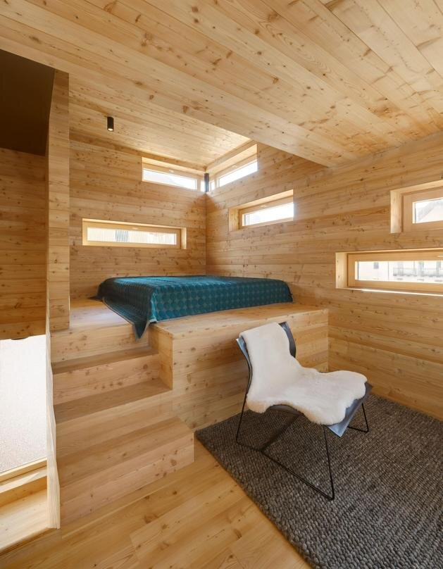 Christian Schwienbacher - Small House - Ortisei - Italy - Bedroom - Humble Homes