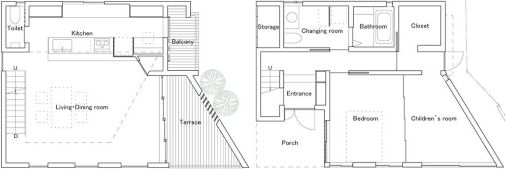 Hammock House - Small House - UZU Architects - Osaka Japan - Floor Plans - Humble Homes