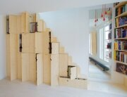 Micro Apartment - Paris - Shemaah - Alternating Tread Staircase - Humble Homes