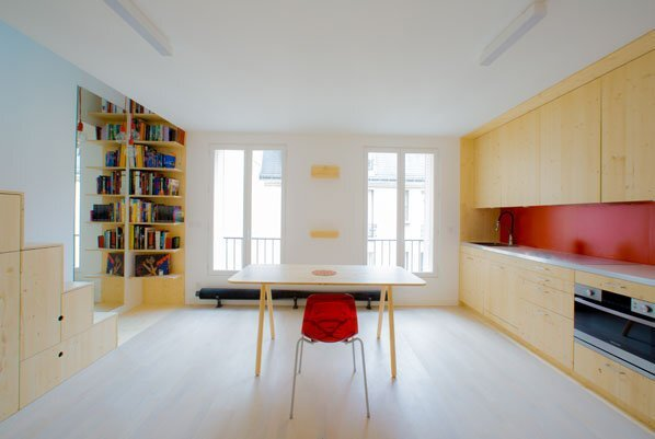 Micro Apartment - Paris - Shemaah - Living Area - Humble Homes