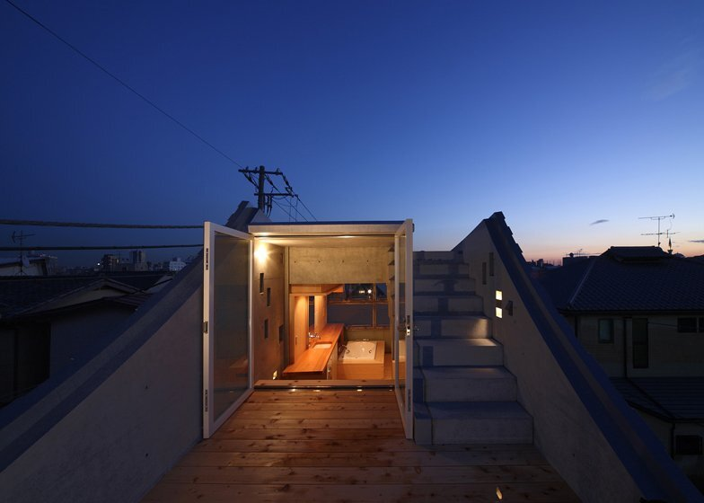 The Wall of Nishihara - Tiny House - Masanori Kuwabara -Sabaoarch - Shibuya Tokyo - Roof Deck - Humble Homes