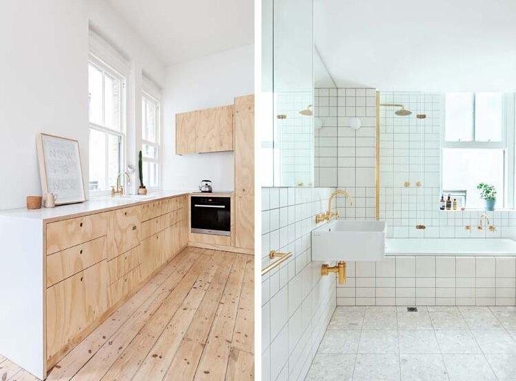 Tiny Apartment - Clare Cousins - Flinders Lane Apartment - Melbourne -Kitchen & Bathroom - Humble Homes