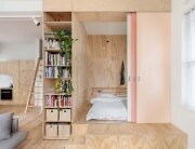 Tiny Apartment - Clare Cousins - Flinders Lane Apartment - Melbourne - Living Area & Bedroom - Humble Homes